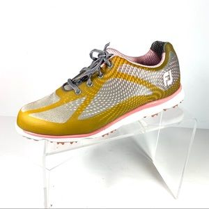 Footjoy Empower Golf Shoes Pink Gray Size 9.5 W